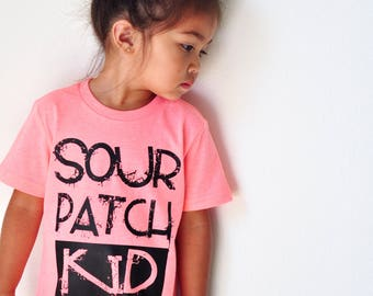 sour patch kid kids graphic tee screen print toddler tshirt