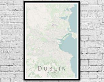 DUBLIN Map Print | Ireland City Map Print | Wall Art Poster | Wall decor | A3 A2