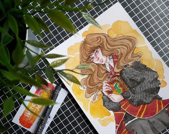 SALE / Hermione / ORIGINAL Illustration