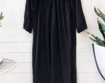 Sale ** Kiyomi Gypsy Boho Black Maxi Dress