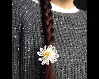 Elastic band with crochet Daisy