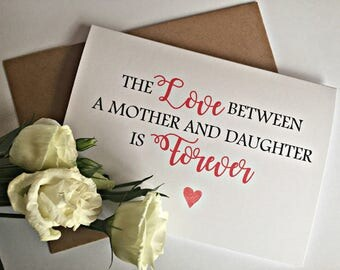 Mothers Day Card, Card for mum, Mother of the bride Card, Thank you Mum Card, Birthday card for Mum,