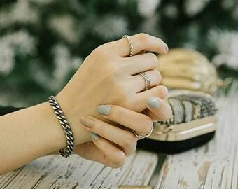 1pc Cuban link bracelet/gift for her,sterling silver 925 chain/solod silver/curve link bracelet/ AGSS14