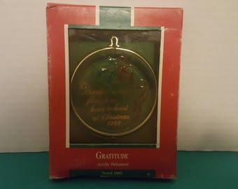 Hallmark Keepsake Acrylic Ornament 1989 Gratitude