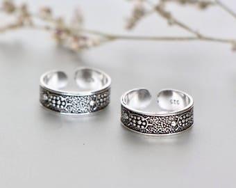 Silver Turtle Toe Ring, Oxidized Silver Toe Rings, Gifts Toering, Unisex Toe Band, Minimalist Toe Ring, Bohochic Toe Ring, TS91