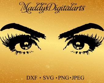 Eyes SVG File / SVG Cut File for Silhouette / Eyelash SVG / Pretty Eye svg/ Womens Eyes svg