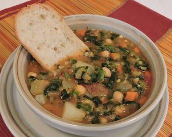 Tuscan Red Lentil Soup PDF or JPEG Eating Cleaner recipe file
