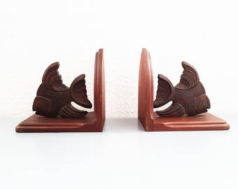 Vintage Chiclid Fish / chiclide Book ends
