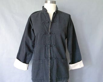 vintage oriental jacket/blazer/blouse/top women's size S/M