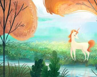 Majestic Unicorn Print