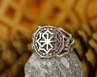 Molvinets Ring. Ancient slavic amulet. Nordic talisman. Signet Molvinets ring. Protects against evil, bad words, envy, the evil eye.