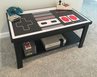 Nintendo Custom NES Retro Video Game Controller Coffee Table