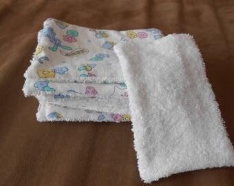set of 12 washable baby wipes