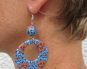 Blue kaleidoscope earrings