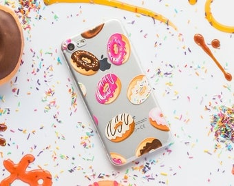 Donuts iPhone Case - Style 1 - iPhone 7 Case, iPhone 7 Plus Case, iPhone 6s Case, iPhone 6 Case, Donut iPhone Case, iPhone 6 Plus Case, 6s