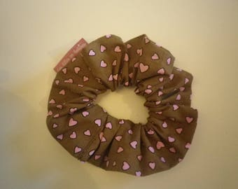 Hearts - gift idea - home fabric hair scrunchie/elastic