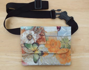 Butterfly Belt Bag, Hip Purse, Slim Bum Bag or Waist Bag, Money Belt, Flat Fanny Pack