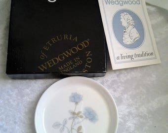 vintage Wedgwood Ice Rose Pin Dish in Box