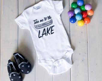 Sale!! Lake Baby Onesie, Take Me To The Lake, Lake Onesie, Baby Fashion, Lake Baby Shirts,Camping Baby Onesies
