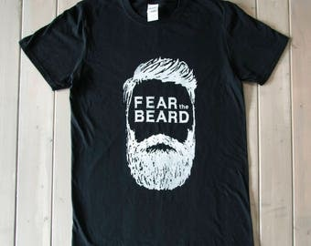 Fear The Beard Shirt, Funny Mens Shirt, Gift For Him, Beard Shirt, Mens Graphic Shirt, Hipster Shirt, Funny Mens Clothing