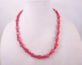 Red Dodecahedron Necklace
