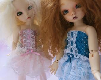 Bjd Yosd, Littlefee - Blue strapless dress