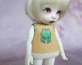 Bjd - tiny, Pukifee / Lati Yellow - Frog dress