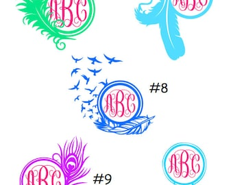 Feather Car Decal Etsy - Custom design car decals free