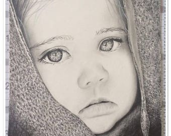 Portrait of Young Girl graphite pencils ° ° ° °