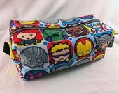 Toiletry Bag - Avengers and Marvel Comics- School Supplies - Pencil and Electronics case- Iron Man- Captain America- Hulk- Thor