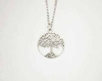 Wiccan Tree Of Life Pendant Necklace. Pagan. Wicca.