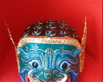 Large Vintage Traditional Handmade Mask from Thailand