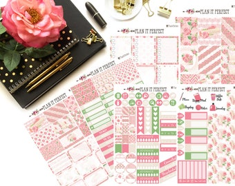 Love Letter Weekly Sticker Kit// VERTICAL Weekly Kit for Erin Condren// 6 sheets of planner stickers