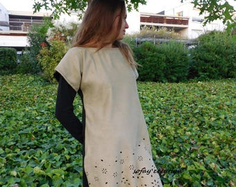 short dress, Brown and black fall winter