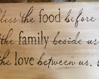 Bless the food sign