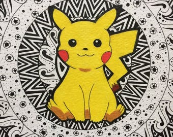ORIGINAL Pikachu Mandala Art Piece