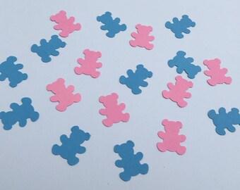 200 Pink and Blue Teddy Bear Confetti Bear Confetti Gender Reveal Baby Shower Confetti Birthday Confetti Shower Confetti Teddy Bear Birthday