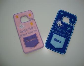 Personalised Tooth Fairy Door Hanger, Door Hanger, Tooth Fairy Gift, 1st Tooth