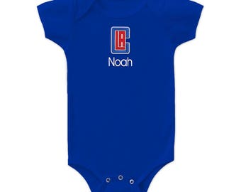 Personalized Los Angeles Clippers Baby Bodysuit