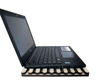 Laptop cooler,wood tech organizer,tablet stand,lap desk,portable desk,travel desk,bed desk,lap board,tech lover,desk organizer,tech gift