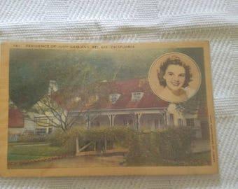 Judy Garland Residence Postcard