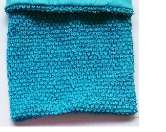 STRAPLESS stretch Double 2 to 6 aqua blue crochet for making tutu dress costume