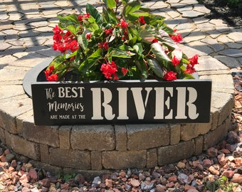 River Sign, River Decor, River Wood Sign, My Best Memories are Made at the River, Outdoor Decor, Outdoor Sign, Memories Sign, River Memories