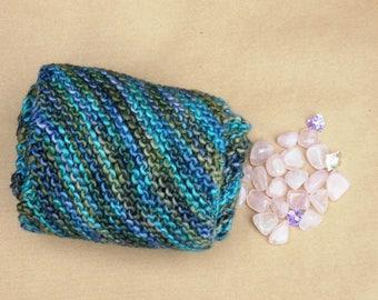 Infinity scarf, Luxury Fair trade merino wool and silk scarf, Soft lightweight scarf, Blue and Green Scarf, Eco friendly Scarf