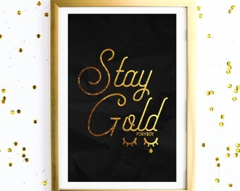 STAY GOLD PONYBOY instant download 11x17 The Outsiders