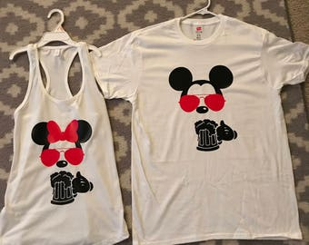 Epcot Food and Wine Featival Mickey & Minnie Shirts