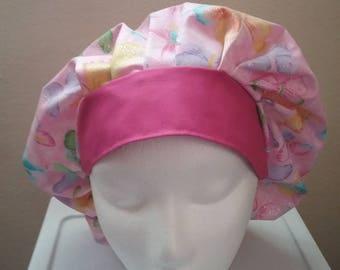 Butterfly bouffant scrub hat