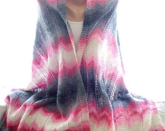 30 % DISCOUNT Handmade shawl, multicolor shawl, knit shawl, hand knit shawl,knitted shawl, knitting shawl