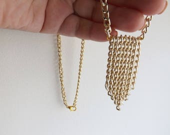 simple necklace golden necklace delicate necklace layering necklace simple elegant brass necklace chain necklace thin necklace golden choker