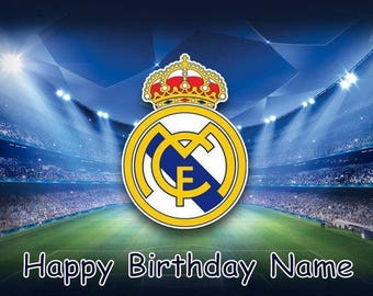 Real Madrid Football Club Soccer Edible Image Cake Topper Personalized Birthday 1/4 Sheet
